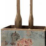 nyc097_Vintage Rose Pink Wooden Storage Holder