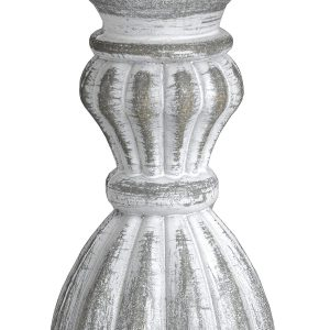 16291-a Antique Grey Linen Shade Table Lamp