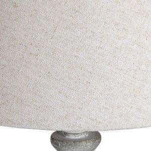 16291-b Antique Grey Linen Shade Table Lamp