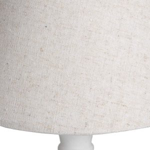 16293- b White Classic Wooden Table Lamp