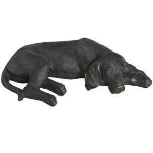 17922 Antique Black Lying Spaniel Ornament