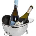 18607 Polished Nickel Riding Hat Wine Cooler