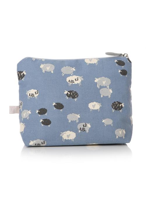 48288_Sheep Hearts Blue White Wash Bag