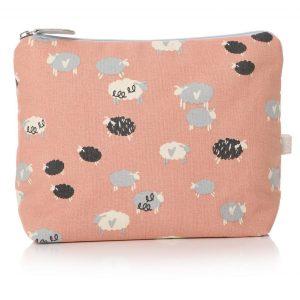 48290_Sheep Hearts Pink White Wash Bag
