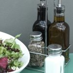 MP176_2 Silver Metal Glass Condiments Bottle Holder