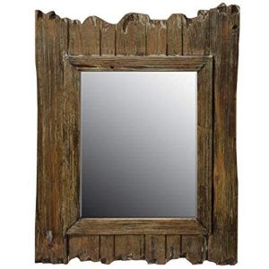 PAH040_Nautical Driftwood Brown Wall Mirror