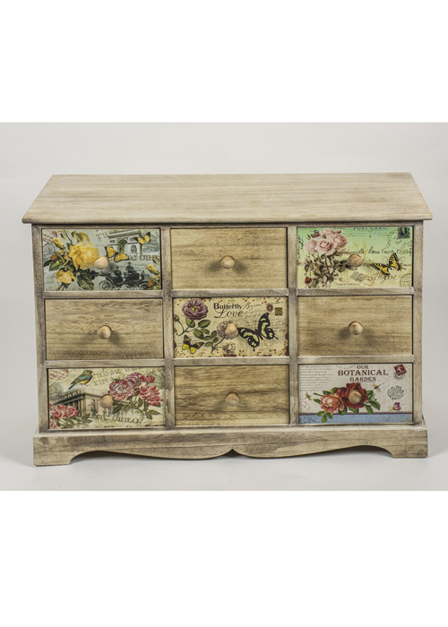 PAX004_1_Vintage Style Floral Chest of Drawers