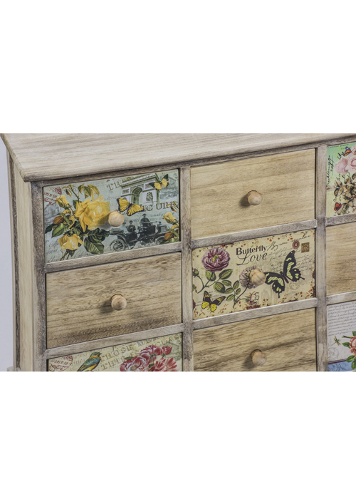 PAX004_2_Vintage Style Floral Chest of Drawers