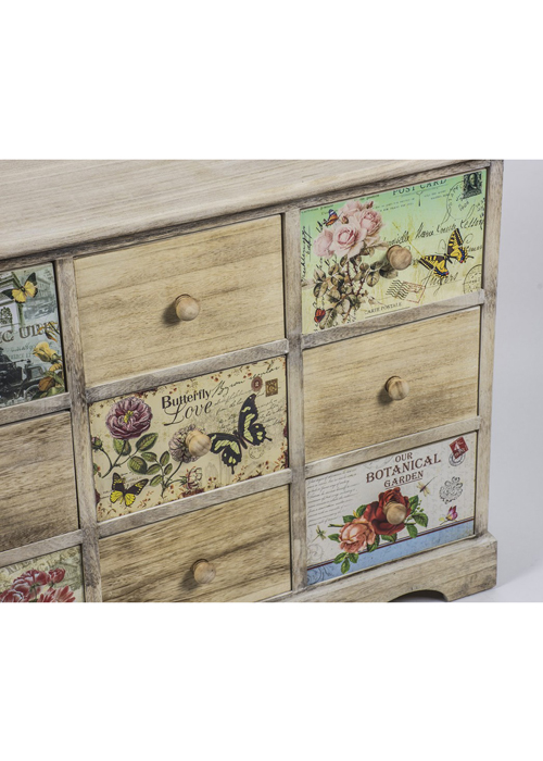 PAX004_3_Vintage Style Floral Chest of Drawers