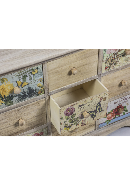 PAX004_4_Vintage Style Floral Chest of Drawers