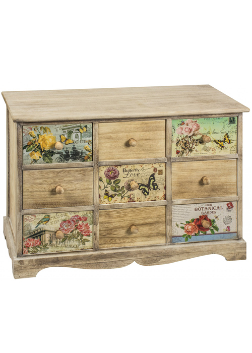 PAX004_Vintage Style Floral Chest of Drawers
