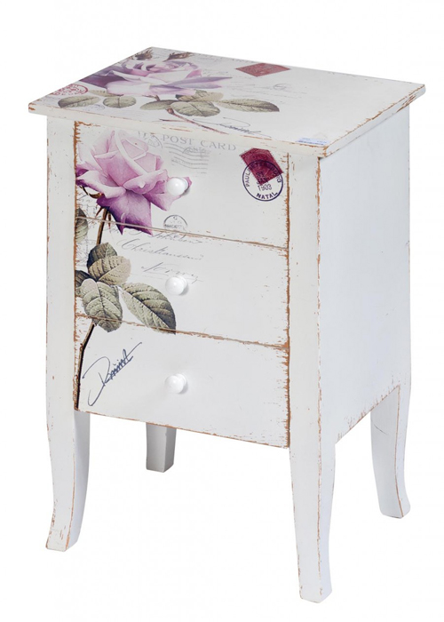 PFJ343_angled_Vintage Style Rose White Pink Side Table