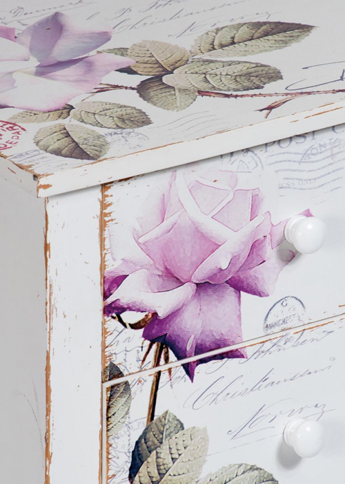PFJ343_detail_Vintage Style Rose White Pink Side Table