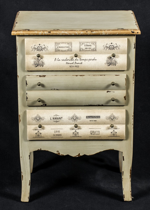 PGO052_1_Shabby Chic Grey Books Chest of Drawers