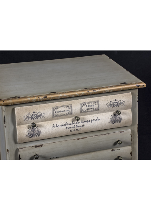 PGO052_2_Shabby Chic Grey Books Chest of Drawers