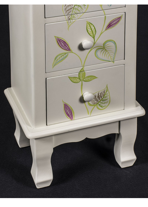 PGO058_2_Country Floral Grey Chest of Drawers
