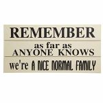 PS037 'Nice Normal Family' Wall Plaque Sign