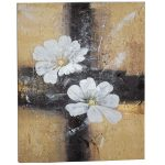 Textured White Flower Wall Art Canvas