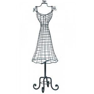 dea-063_3 Vintage Grey Black Jewellery Mannequin