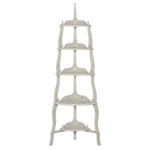 js2103-aw Vintage Grey Display Corner Shelf Rack