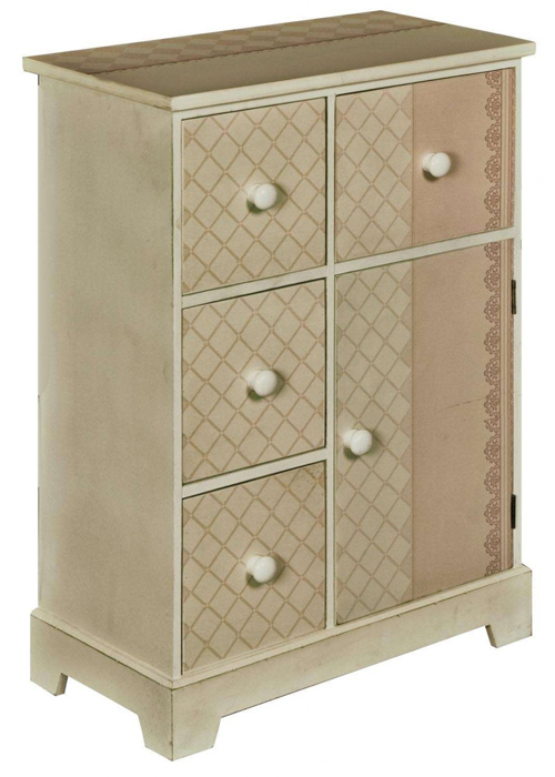pfj421-angled_Shabby Chic Cream Bedside Drawer Cabinet