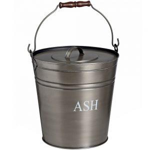 17539 Antique Pewter Grey Ash Bucket