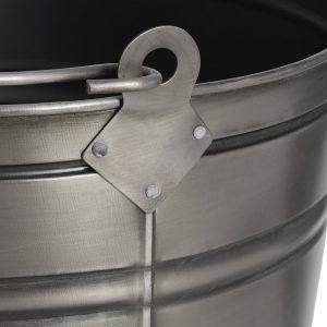 17539-b Antique Pewter Grey Ash Bucket
