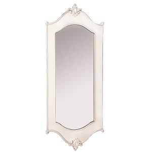 Antique Style Ivory Carved Wall Mirror
