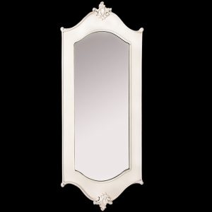Antique Style Ivory Carved Wall Mirror a