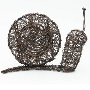 Brown Wire Snail Indoor Outdoor Ornament