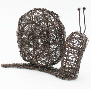Brown Wire Snail Indoor Outdoor Ornament b
