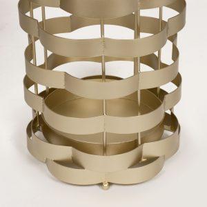 Gold Metal Bands Umbrella Holder