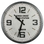 London Kings Cross Retro Style Clock a