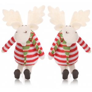 Reindeer Knitted Decoration Toys Set of 2