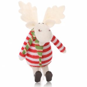 Reindeer Knitted Decoration Toys Set of 2 a