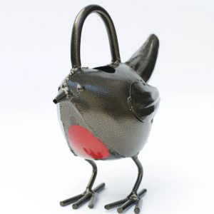 Rustic Unique Robin Metal Watering Can a