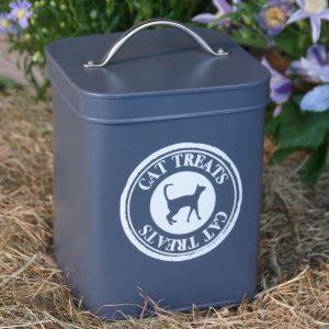 Slate Grey Cat Food Storage Tin a
