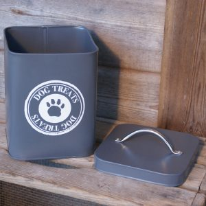 Slate Grey Dog Food Storage Tin