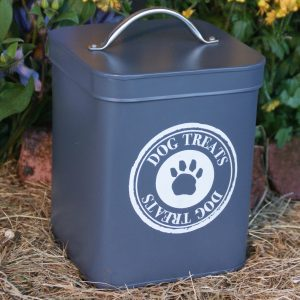 Slate Grey Dog Food Storage Tin a