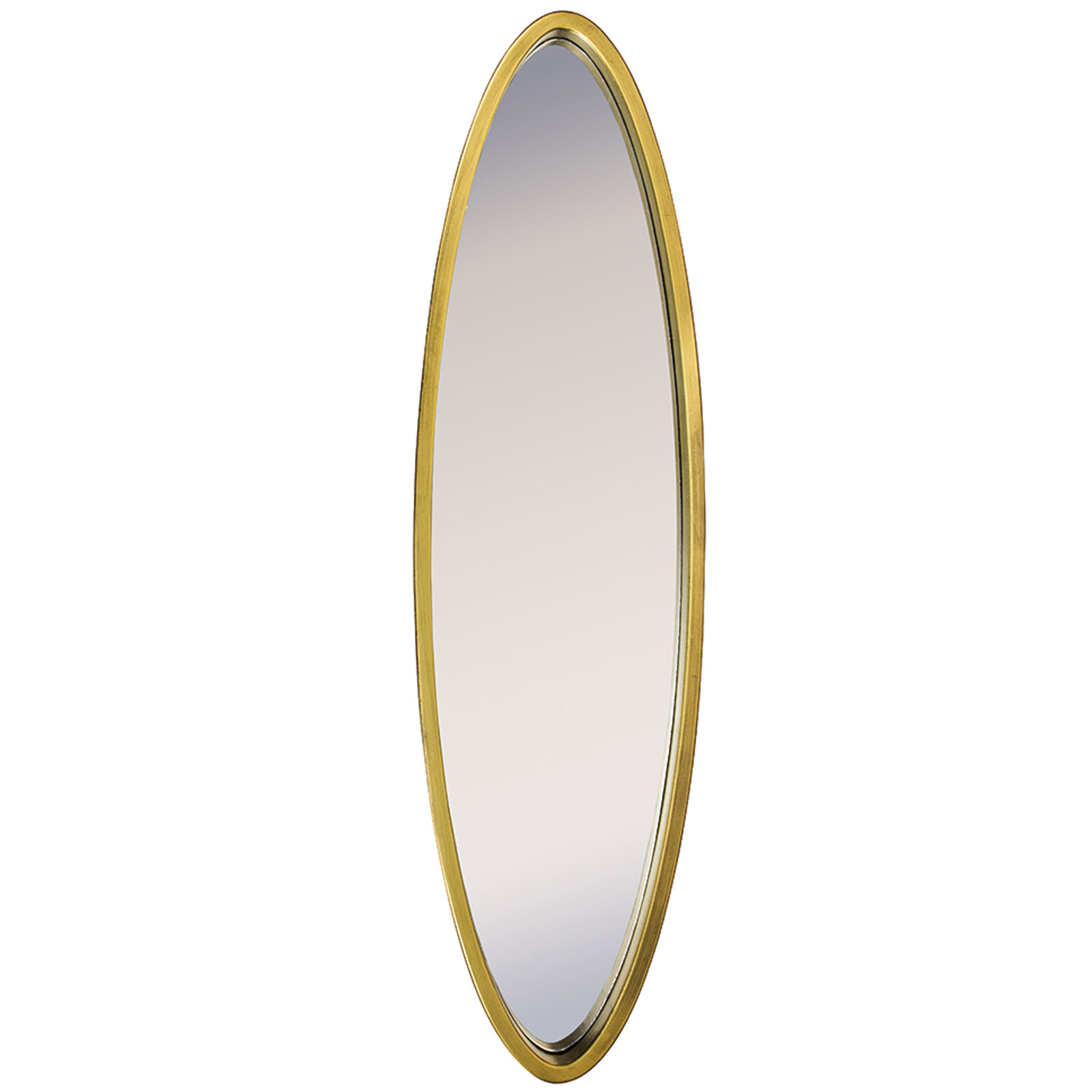 Tall Slim Gold Oval Wall Mirror Interior Flair