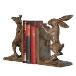 nan129_2_Rustic Boxing Hare Brown Bookends