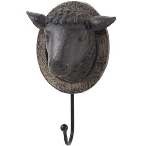 16552 Country Style Rustic Sheep Wall Hook