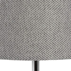 17595-b Slim Grey Glass Metal Table Lamp