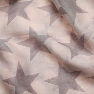 48237_1 Pale Grey Cream Ivory Star Fashion Scarf
