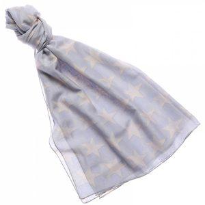 94123 Soft Star Pale Grey Beige Scarf