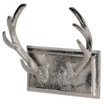 NAI001 Country Stag Antlers Silver Coat Hooks