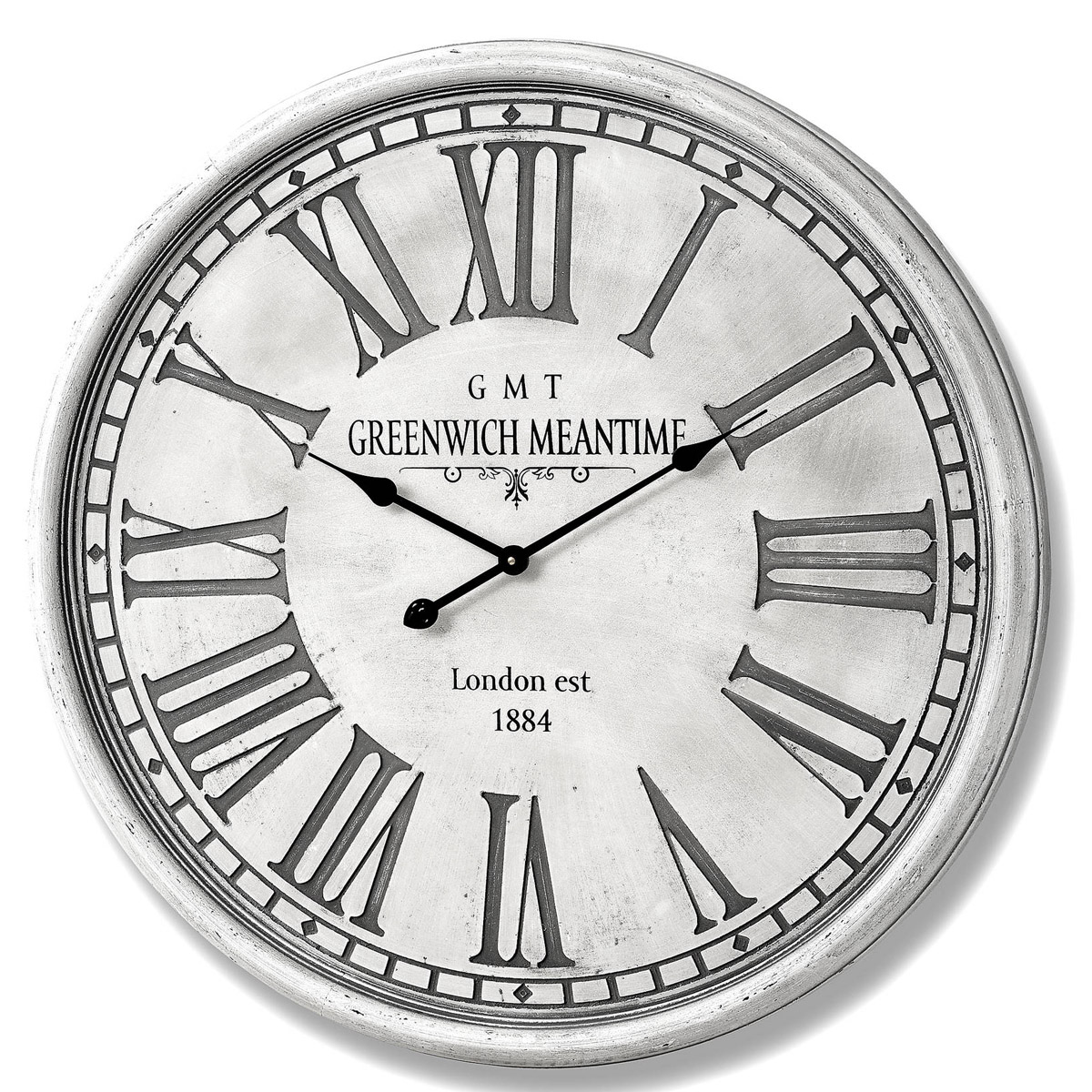 Extra Large Grey White Greenwich Wall Clock Interior Flair
