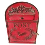 MBF1166 Vintage Red Bird Metal Wall Letter Box