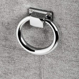 Silver Grey Upholstered Bar Stool