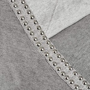 Silver Grey Upholstered Bar Stool b
